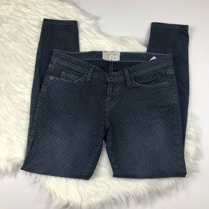 Current/Elliot Lake Dot Stiletto Skinny Jeans 26